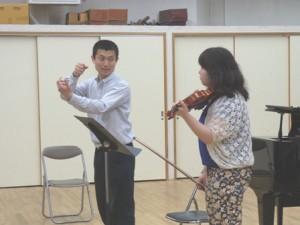 ヴァイオリンを演奏される方とワークする