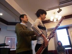 ファゴット奏者の方とのレッスン
