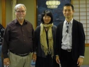 ウィリアム・コナブル博士、かわかみひろひこ&妻の京子さん