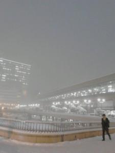 仙台の雪2015年1月