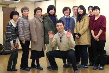 2014年1月31日(土)仙台グループレッスンの記念写真