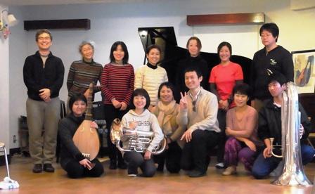 アレクサンダー・テクニーク福岡グループレッスンの記念写真-2015年2月15日(日)