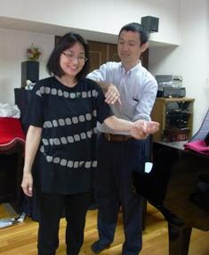 前腕の回内するときに、胸から上腕に向かう筋肉を解放するディクレション