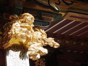 根津神社の龍と獅子