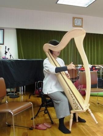 アイリッシュハープの演奏-指が胴体から離れていく