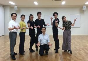 ボールルームダンスの指導者たちとの集合写真-2019年10月6日アレクサンダs-テクニーク静岡