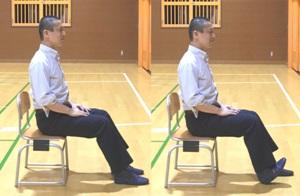 足首の関節の背屈の動き